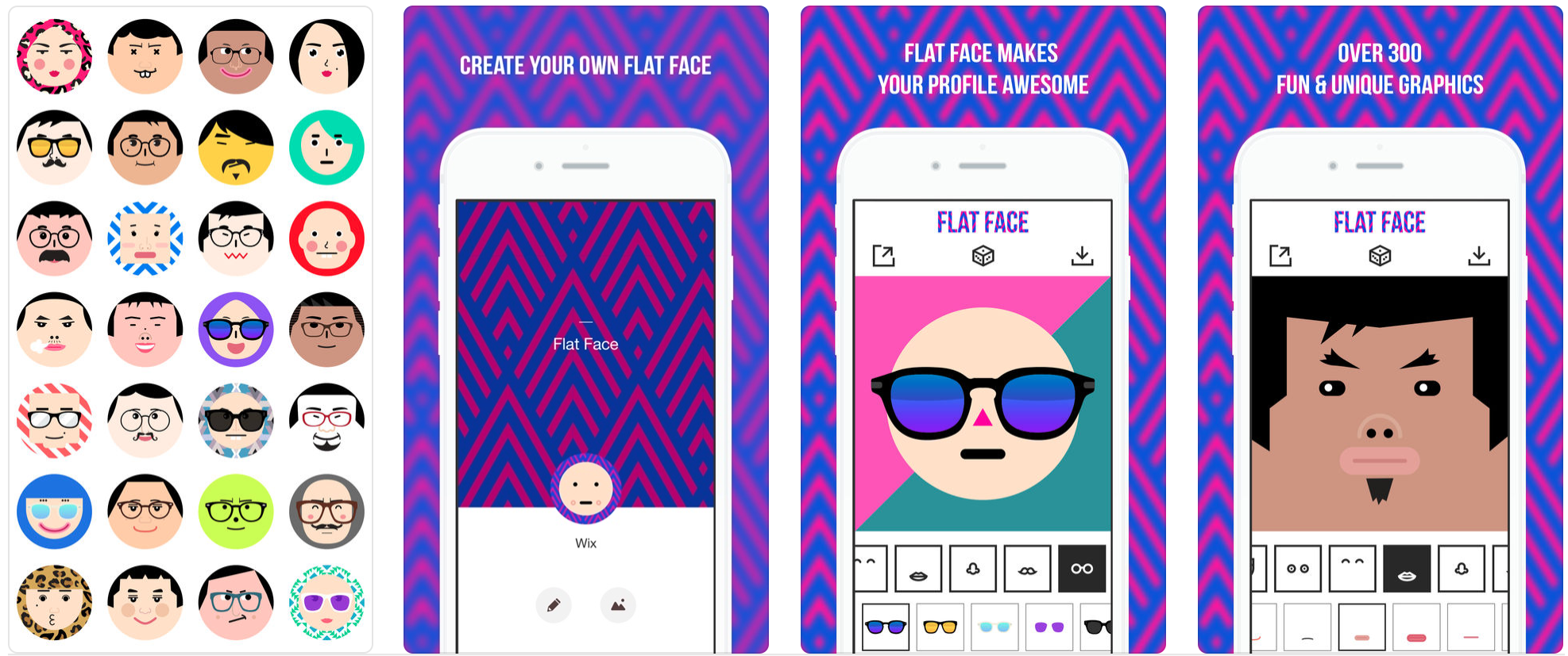 Flat Face - Avatar Face Maker2