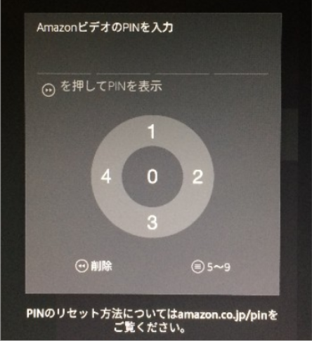 Amazon Fire TV StickのPINコード入力の設定方法