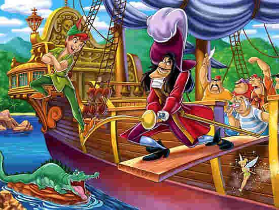 ピーターパンとフック船長の関係は本当は仲良し左手やワニ嫌いの理由