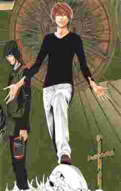 Death Note夜神月lが手錠で繋がれたイラストがフィギュア化本物の