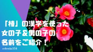 「椿(つばき)」の漢字を使った女の子&男の子の名前をご紹介!【意味/画数】