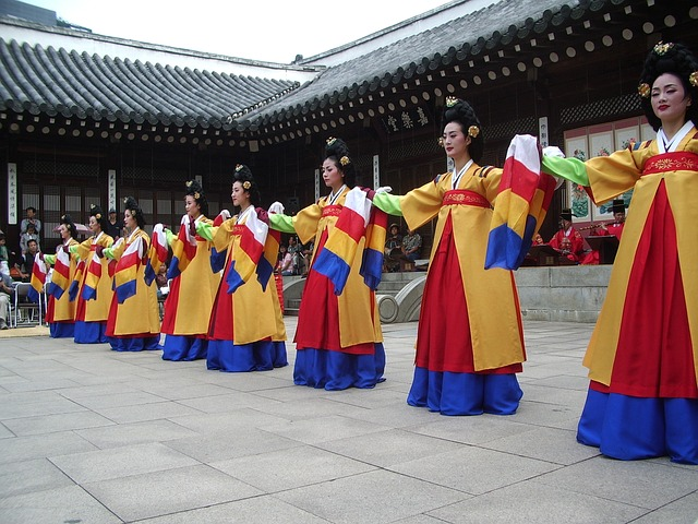 Women wearing Korean dress