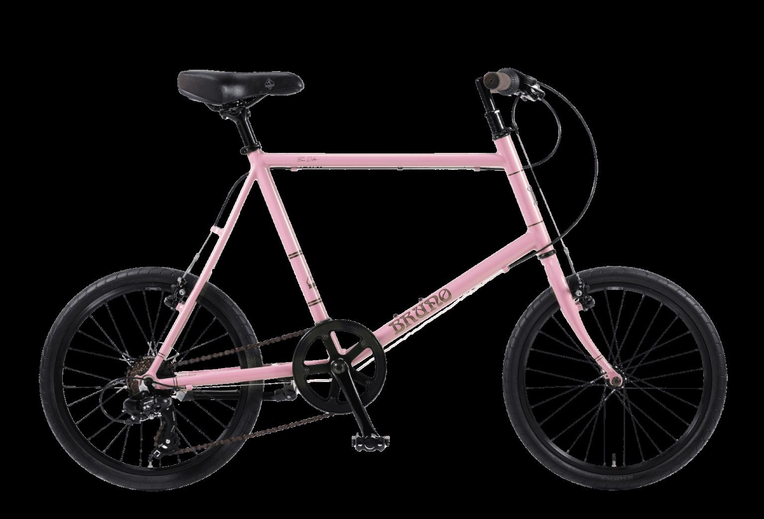 20インチのピンクの自転車ミニベロ