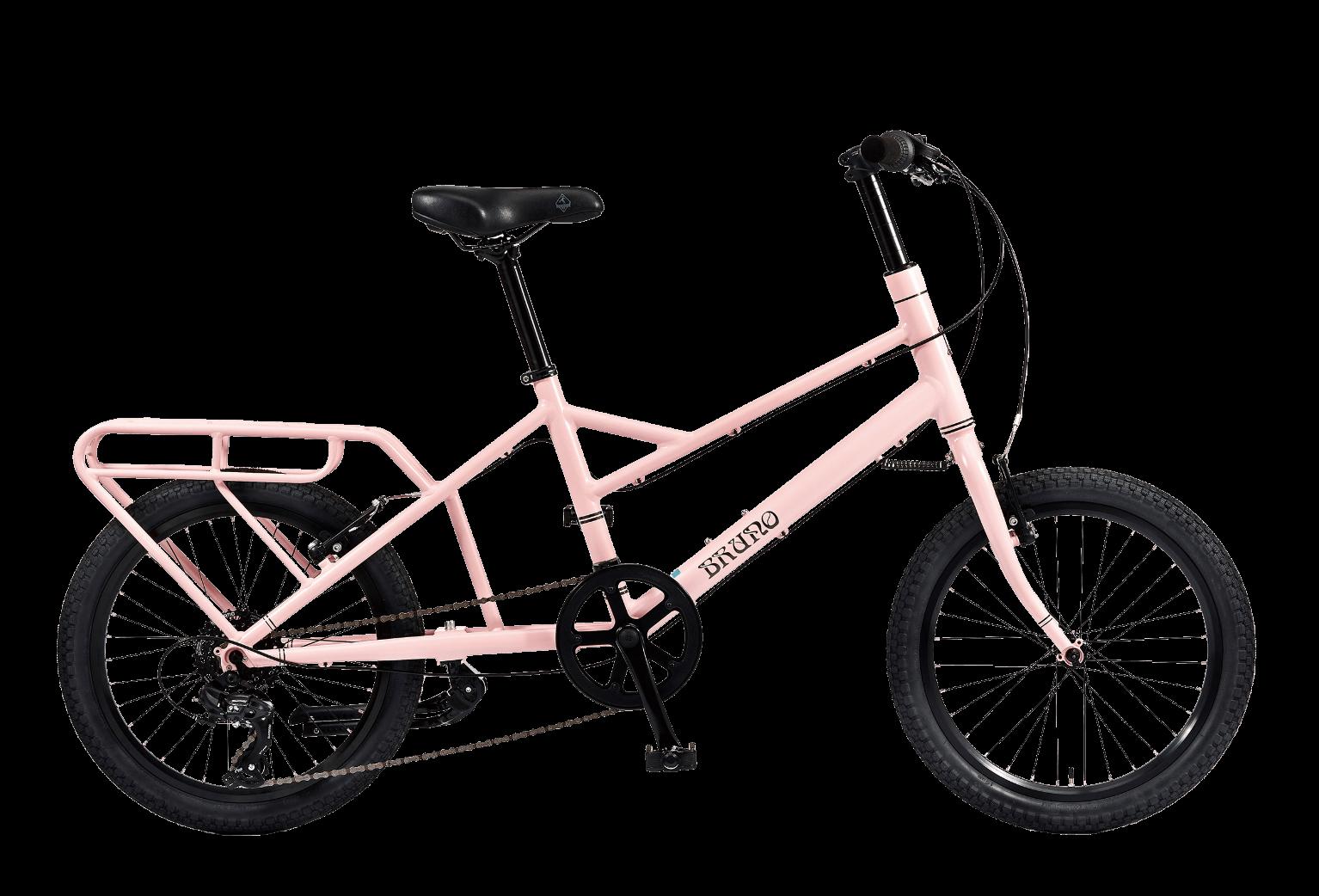 20インチのピンクの自転車ミニベロツール