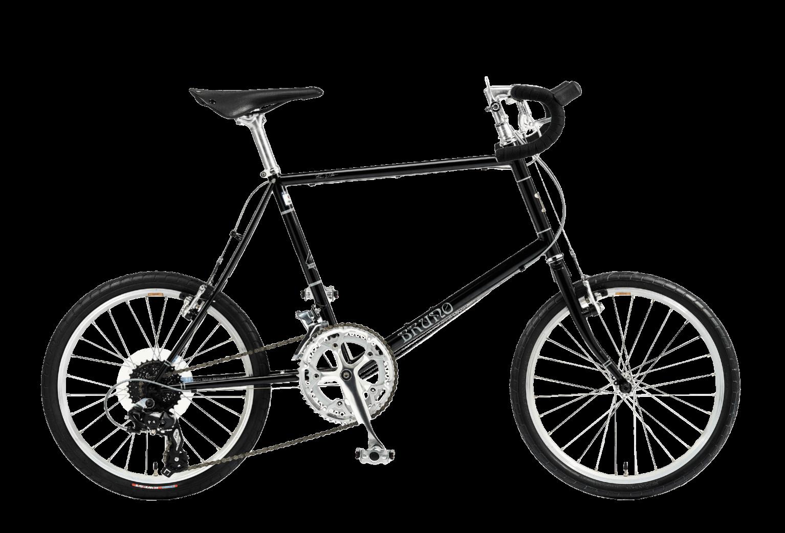 20インチの黒の自転車ミニベロロードドロップ