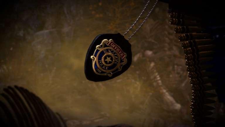 ラクーン警察の紋章を模ったチャーム「R.P.D.」