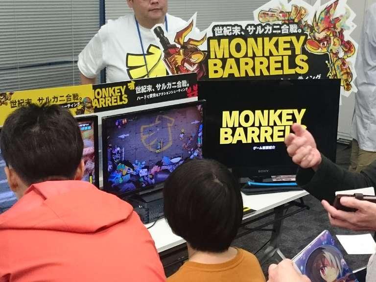 Nintendo Switchにて発売中のインディーゲーム「MONKEY BARRELS」