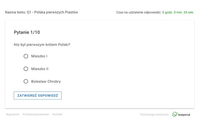 地理・歴史クイズ第1問は「ポーランドの最初の王は誰でしたか?」