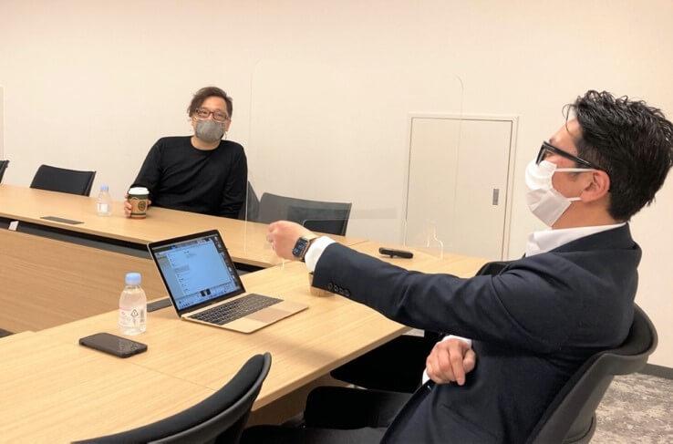 竹安氏対談風景