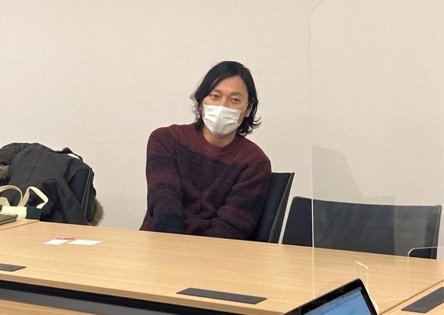 佐倉氏対談風景