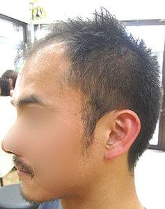 【薄毛男性の似合うかっこいいヘアスタイル・髪型の画像2】刈り上げに近いショートで薄毛感をなくしてしまう