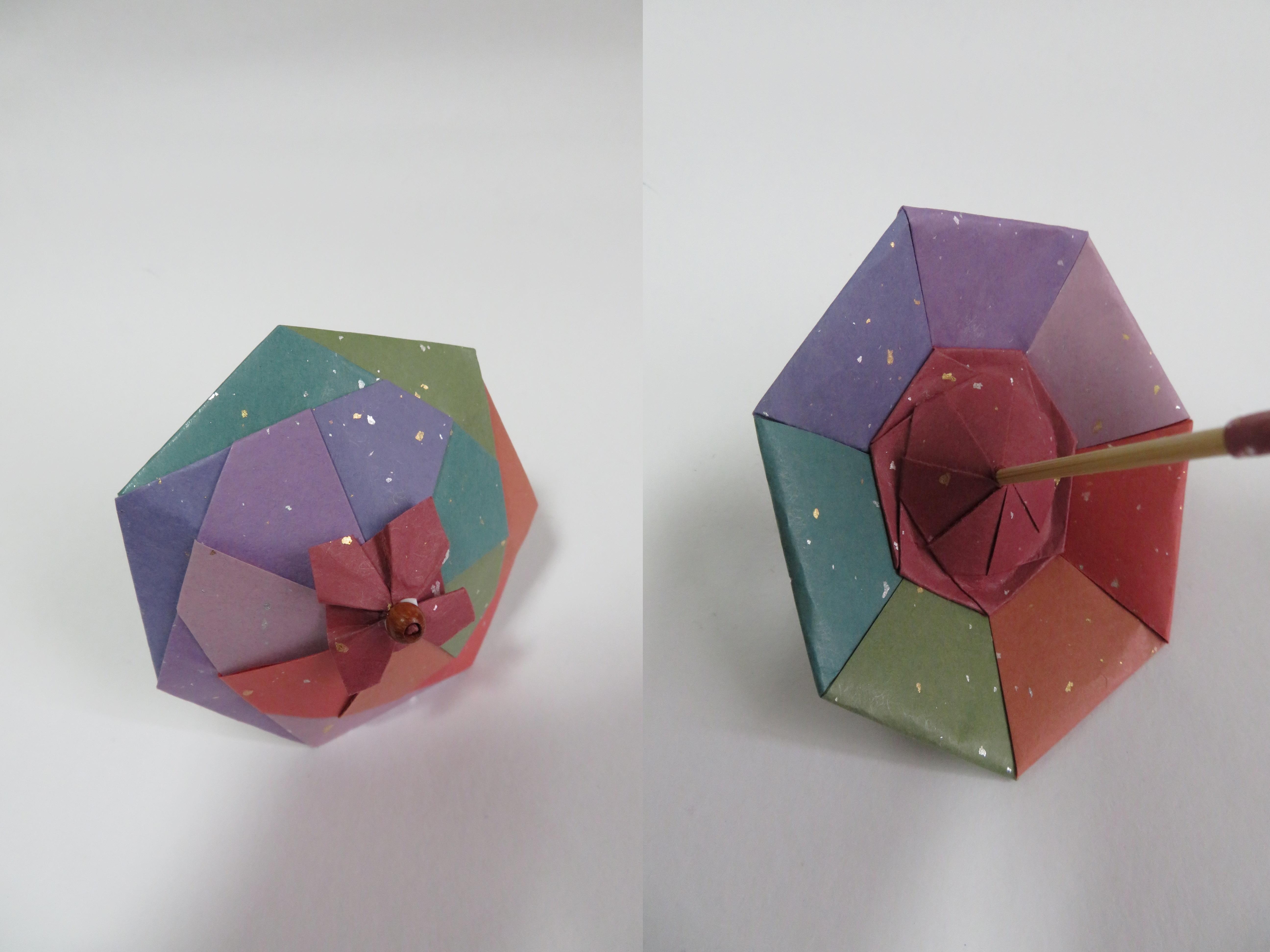 折り紙 和 傘 作り方 簡単