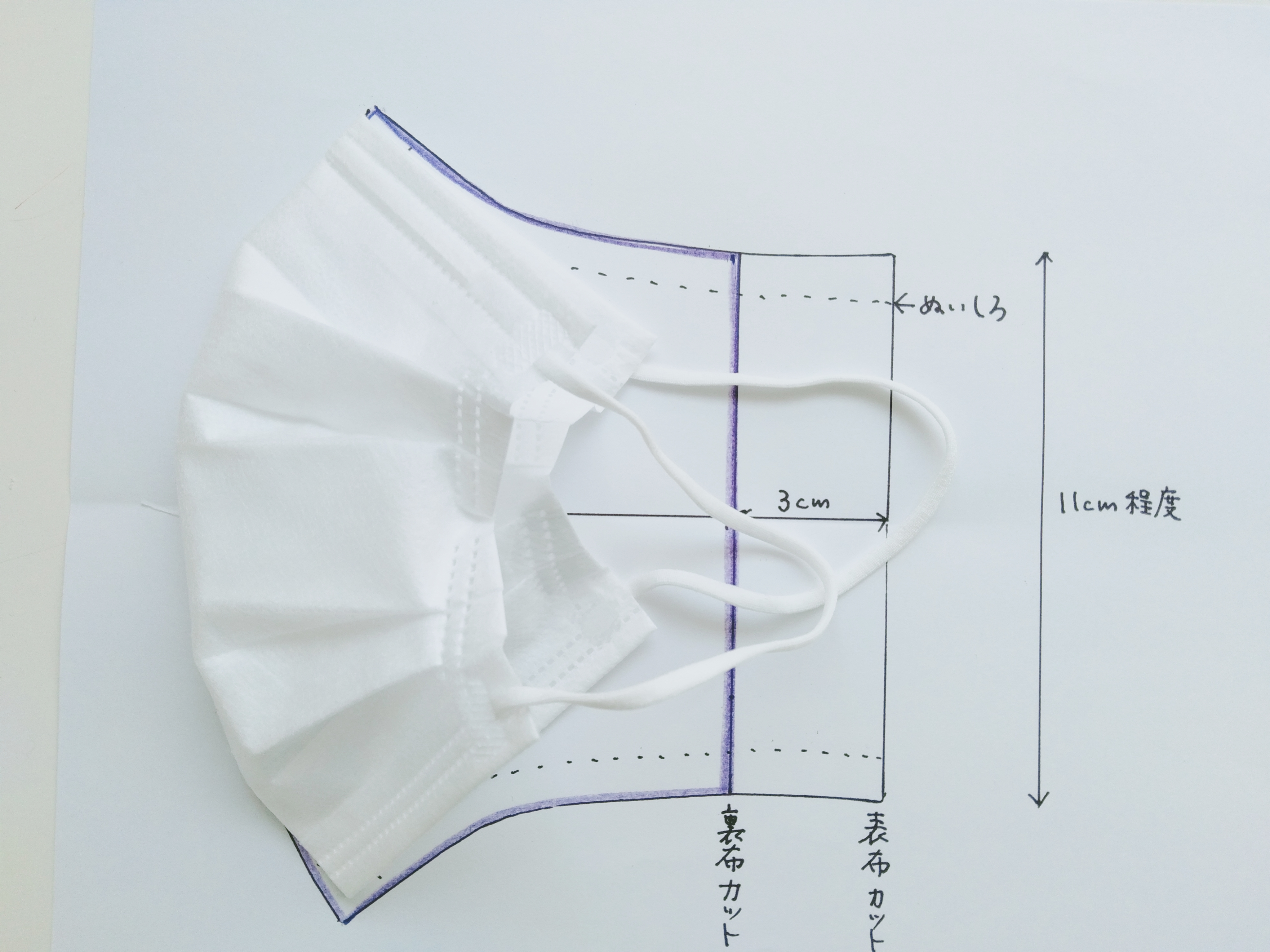 型紙 大きめ マスク