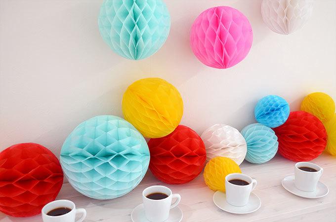 ハニカムボールの概要と作り方!パーティやお誕生日会で作って飾ろう!