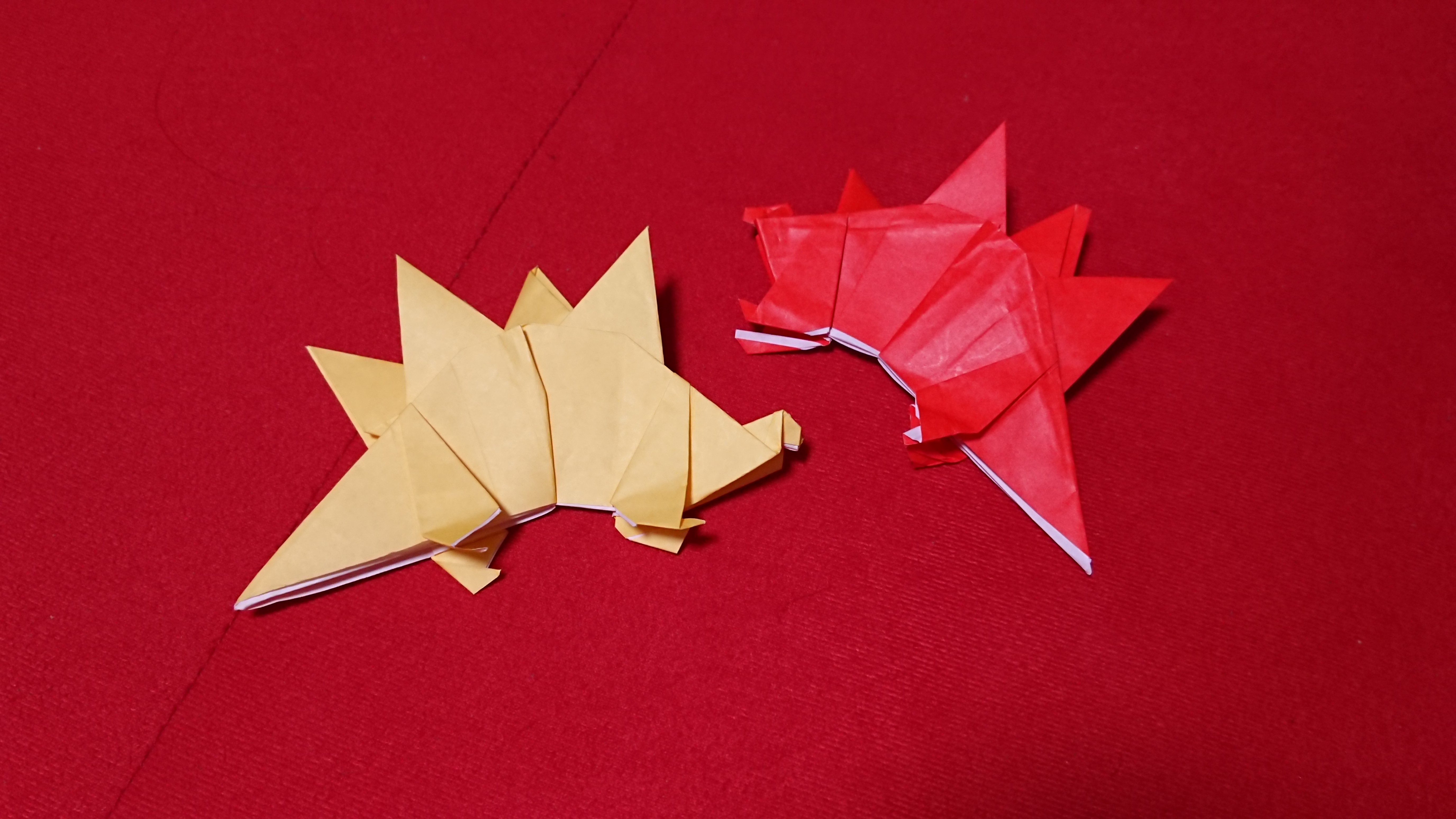 恐竜「ステゴサウルス」の折り方!折り紙の作成手順&ポイントを解説!