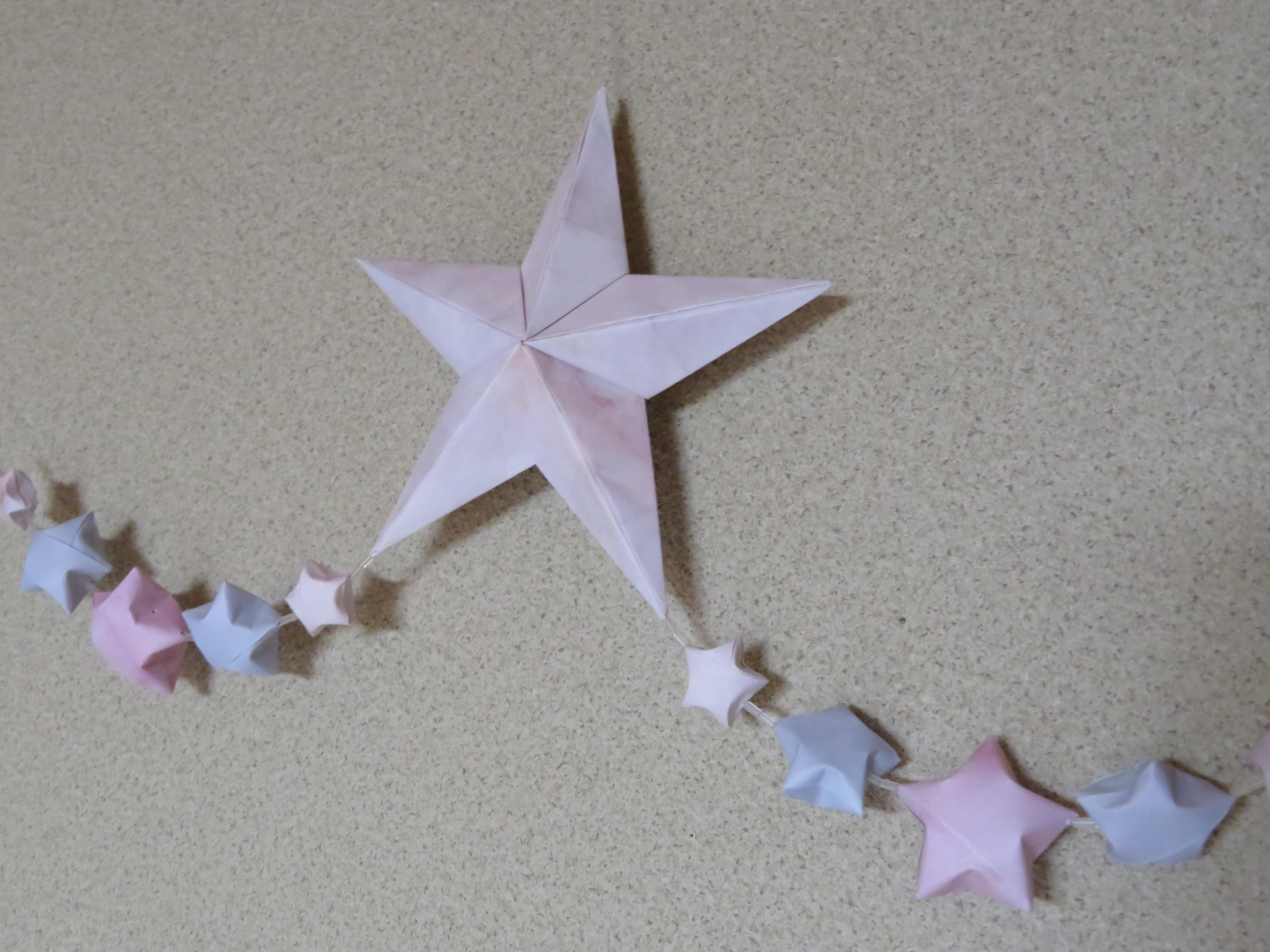 折り紙「立体星」の作り方!折り方・つなぎ方・組み立て方を図解解説!