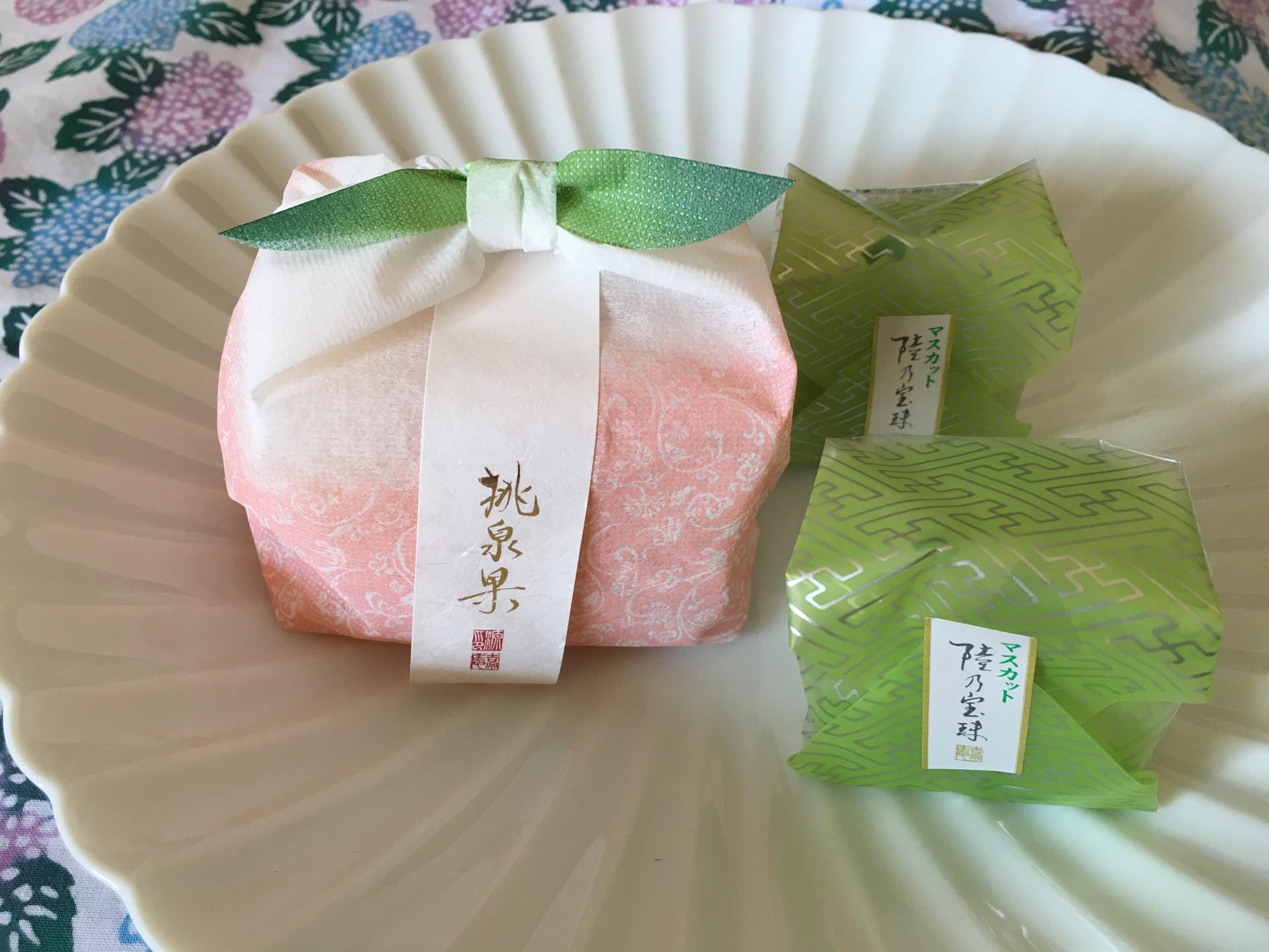 果汁したたる「果実菓子」和ごころをまとった岡山県産マスカットと完熟桃