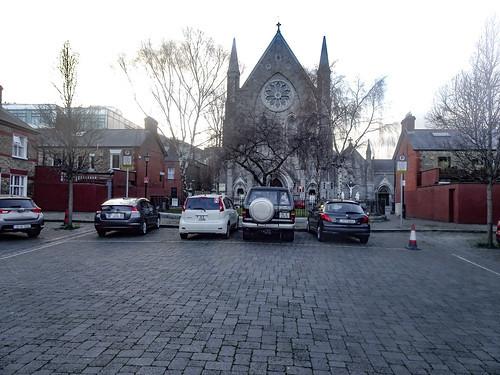 教会の駐車場