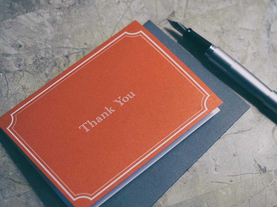 お礼の封筒