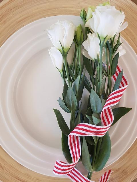 Styleの艶のある白いお皿