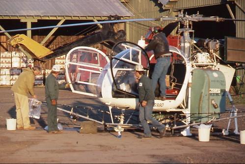 ヘリコプターのアフターケア