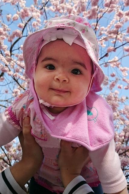 桜と女の子