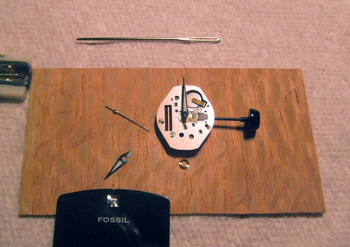時計を組み立てる
