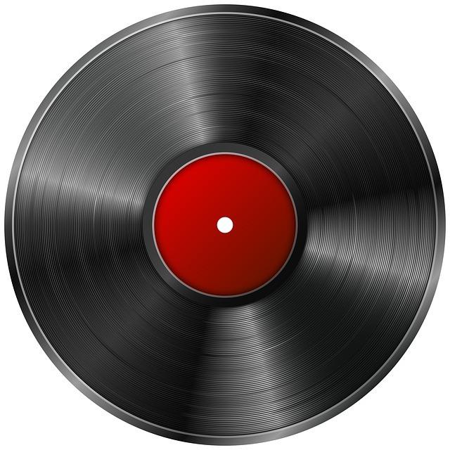 レコードで時計