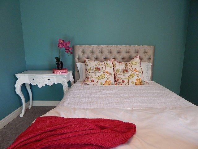 NYテイストの寝室
