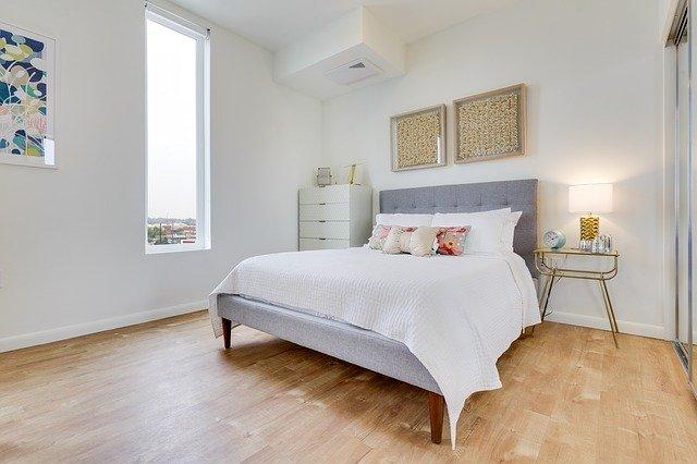 清潔感のある寝室