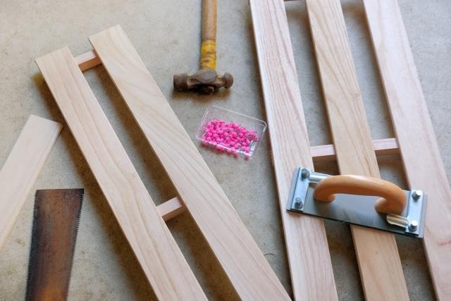 100均すのこで簡単DIY!サイズ・簡単な棚の作り方・解体方法も!