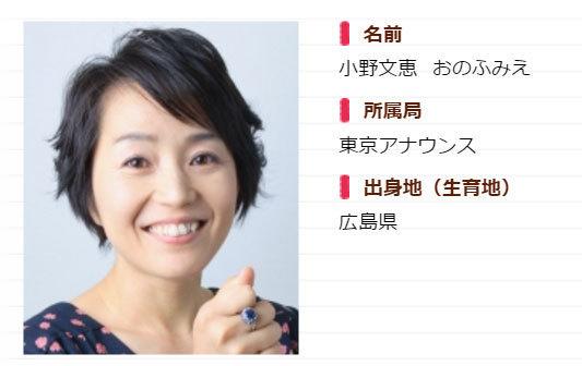 NHK小野文惠の結婚相手・旦那は...