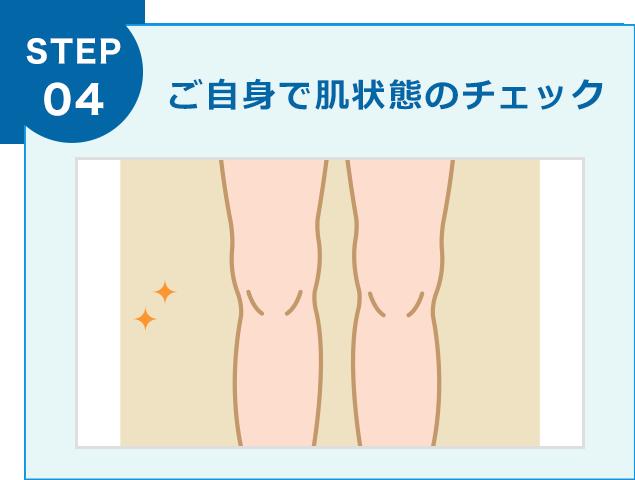 ご自身で肌状態のチェック