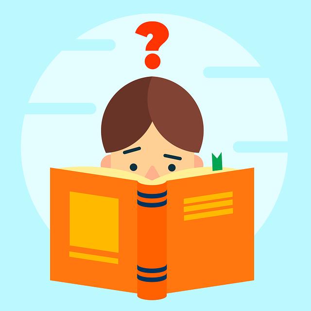 「勉強しながら疑問に思っている人」のイメージです。