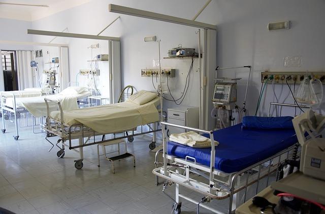 病室の写真です。
