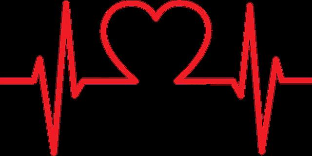 心電図がハートになっている図です。