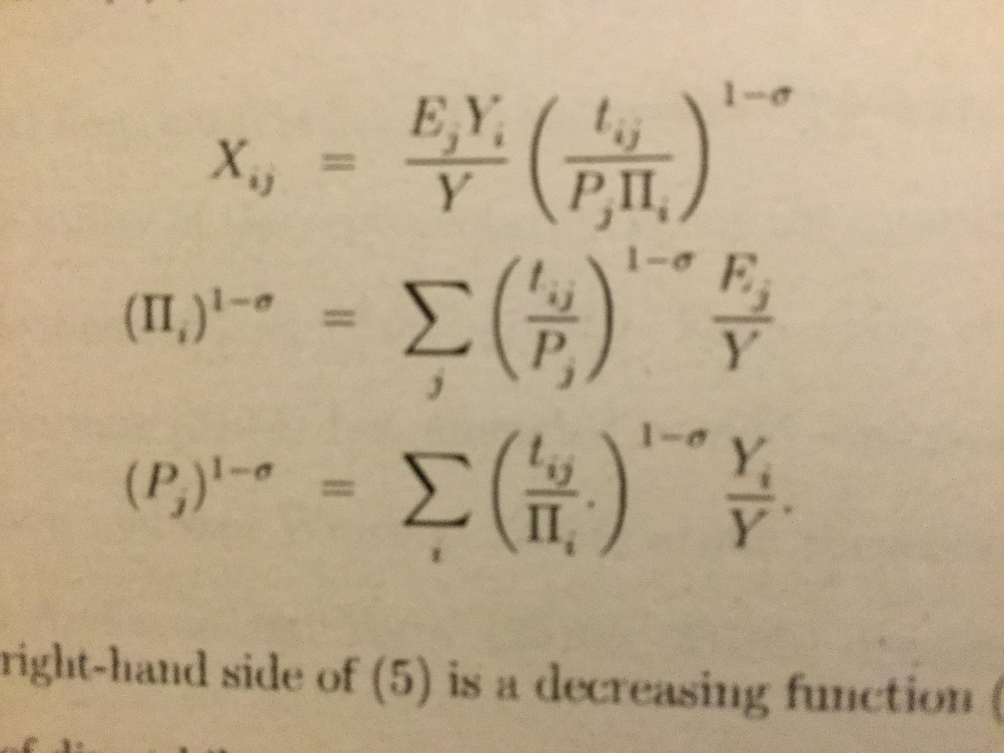 難しい数式の写真です。