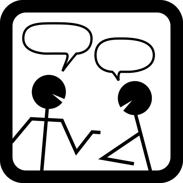 話すというイメージです。