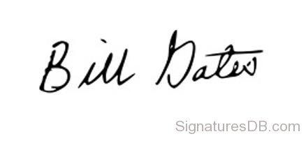 ビル・ゲイツのサイン