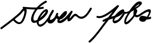 スティーブ・ジョブズのサイン