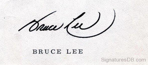 ブルース・リーのサイン