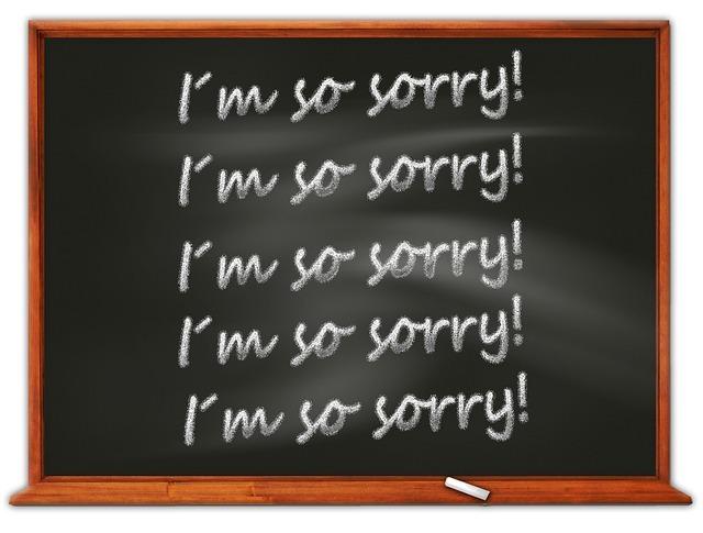 謝罪の種類
