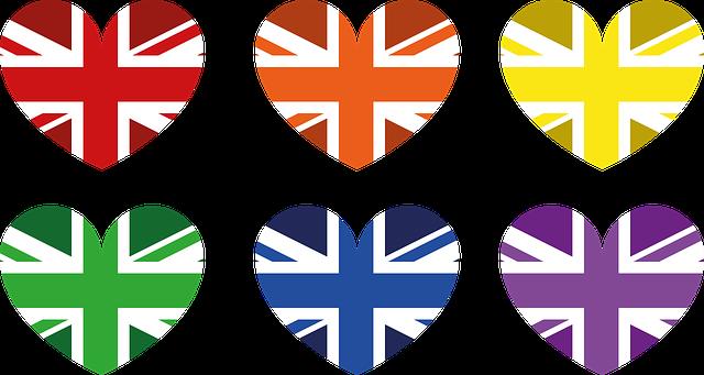 イギリス国旗柄のハート