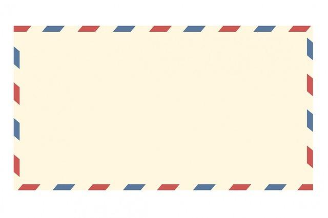 海外の封筒のイメージです。