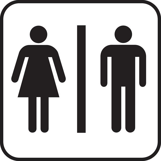 男女のトイレのマーク