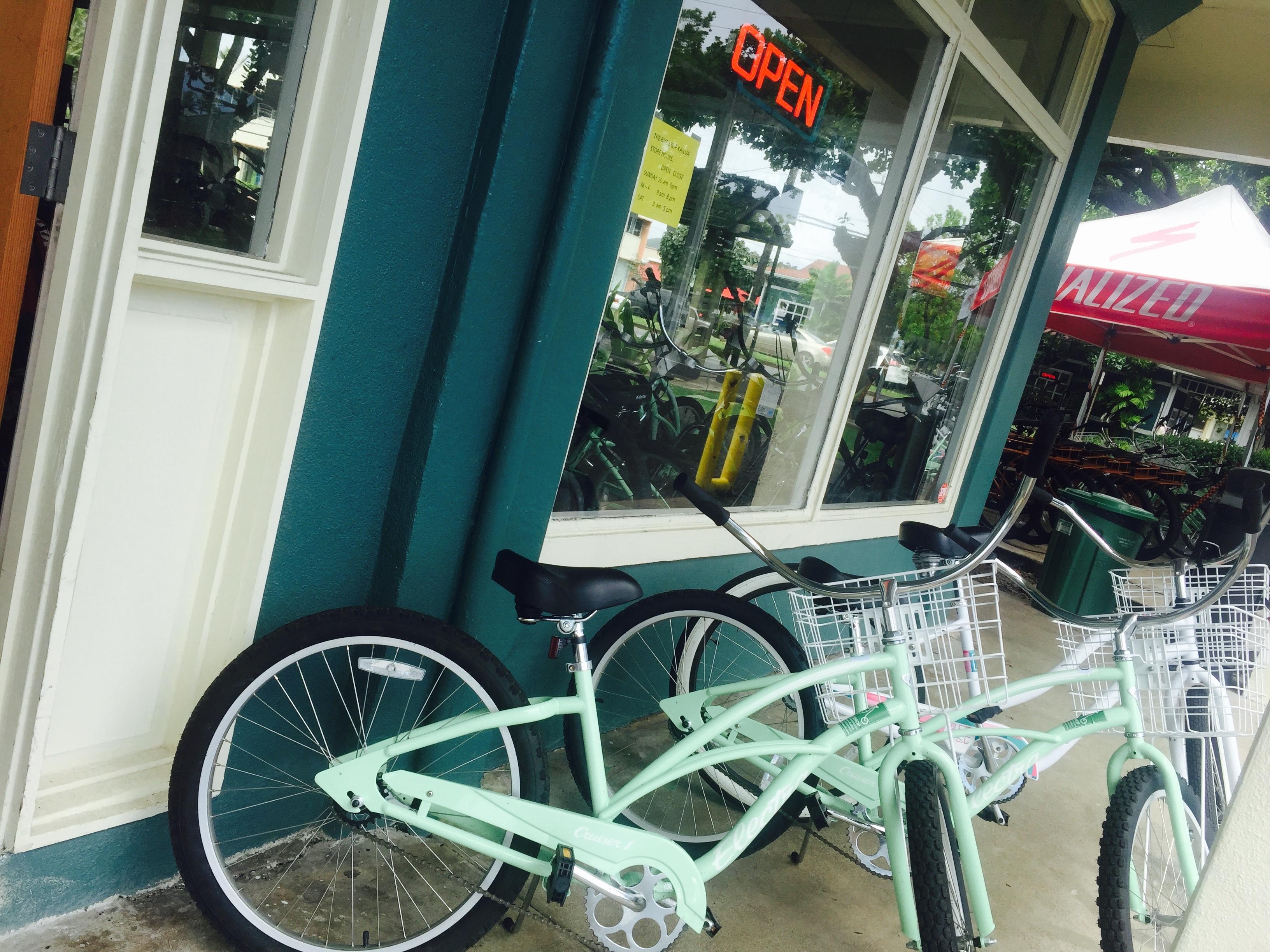 エメラルドグリーンの自転車