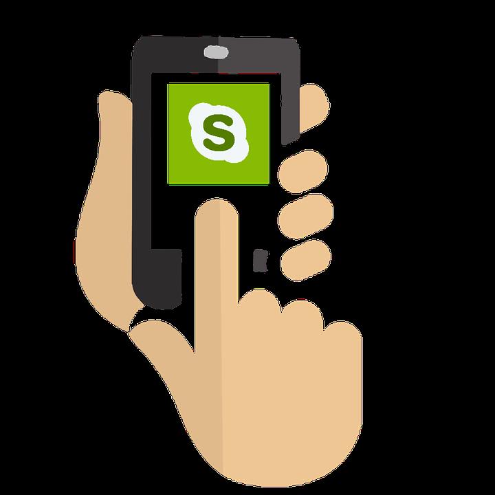 スマホにSkypeをダウンロードすることで英語レッスン受講可能な写真
