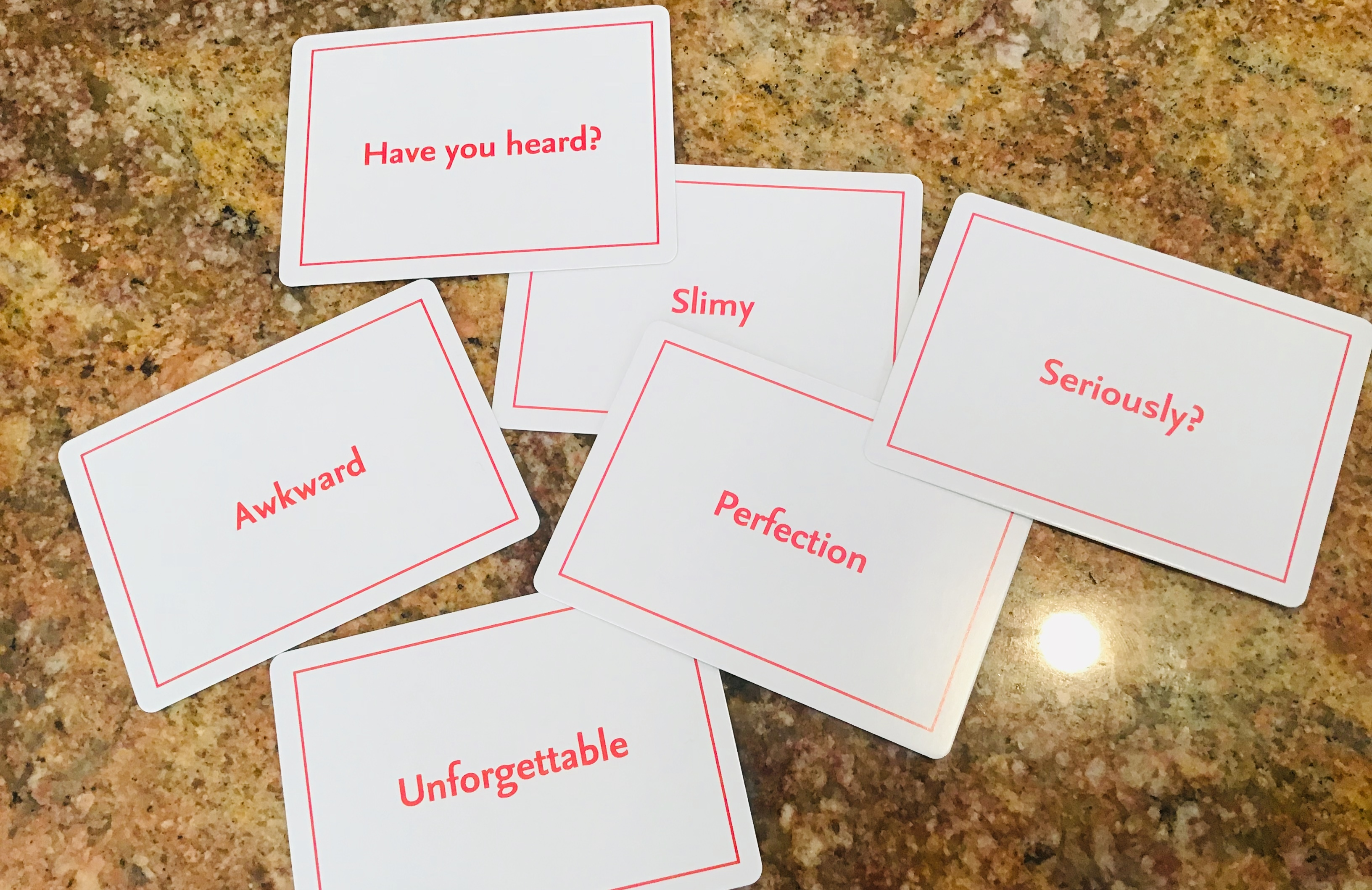 英語が書いてあるカード
