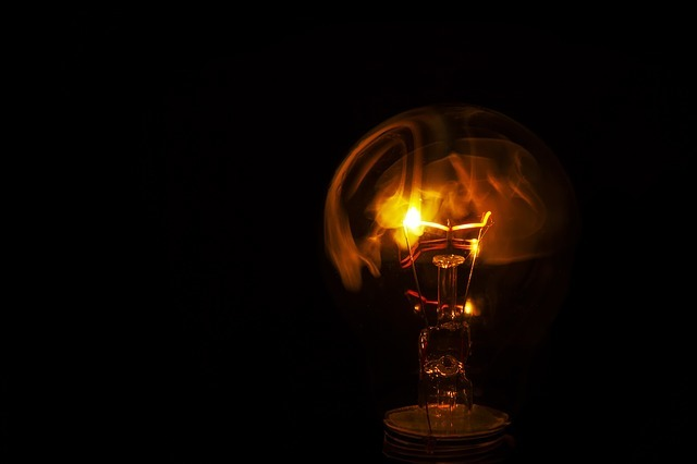 光が消える