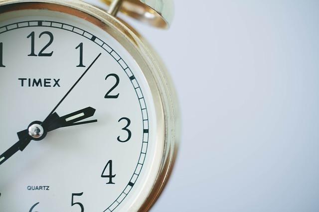 置き時計の画像です。